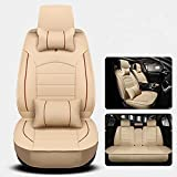 CAR Four Seasons General Leather Breathable Comfortable Interior Seat Cushion Cover , beige
