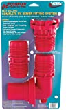 Valterra F02-3303 EZ Coupler Red 3-Piece System including Valve Adapter, Coupler and Sewer Adapter