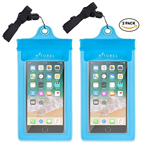 Small Protector Waterproof Case - N'turel Waterproof Phone Case (7'') - 2 pack (Lagoon Blue)