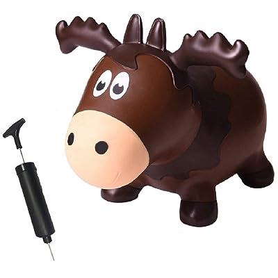 Farm Hoppers Wildlife Hopper Inflatable Toddler Safe Bouncing Moose Plus Pump: Toys & Games