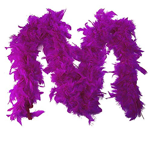 HYIRI Quality White Feather Boa Flapper Hen Night Burlesque Dance Party Show Costume Colorful scarf