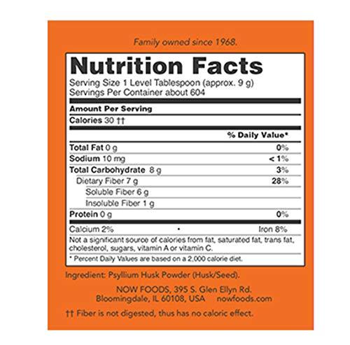 NOW Supplements, Psyllium Husk Powder, 12-Pound by NOW Foods (Image #2)