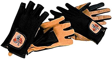 -05 2XL Browning Mittens Claybuster Mesh Back Fingerless Shooting Mittens Black//Tan 3078993105