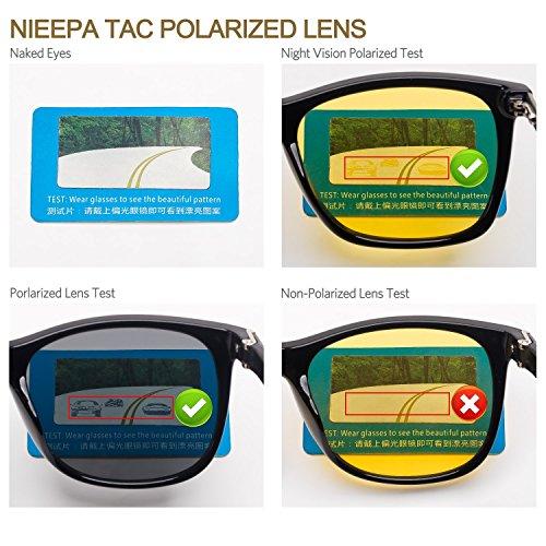 0893c7808b0 HD Night Vision Polarized Sunglasses Yellow Lens Driving Sun Glasses ...