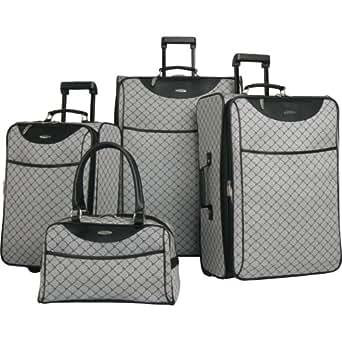 Pierre Cardin Signature 4 Piece Luggage Set, Grey, One Size
