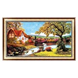 OTGO 5D Diamond Large Embroidery House Painting Cross Stitch DIY Art Craft Decor Gift,105 X 58cm/41.34'' X 22.83''