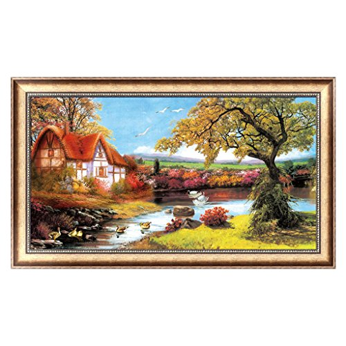 OTGO 5D Diamond Large Embroidery House Painting Cross Stitch DIY Art Craft Decor Gift,105 X 58cm/41.34'' X 22.83'' by OTGO