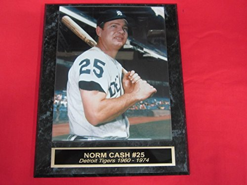 J & C Baseball Clubhouse Norm Cash Tigers Engraved Collector Plaque w/8x10 Vintage Photo
