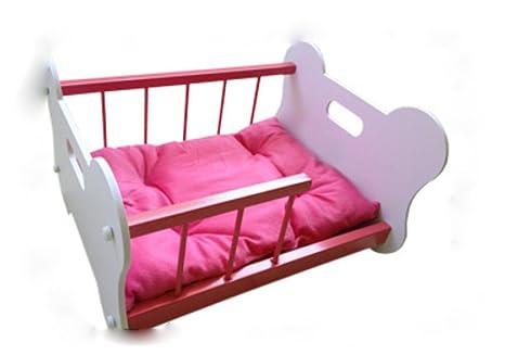 Cama hierro extraíble guía especial perros y gatos mascotas estilo Wo del hueso , pink ,