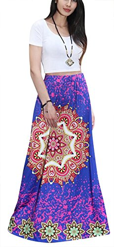Aibearty-Women-S-XXL-Fashionable-Multicolored-Elastic-Print-High-Waist-Maxi-Skirts-Beach-Skirt-Long-Skirts-