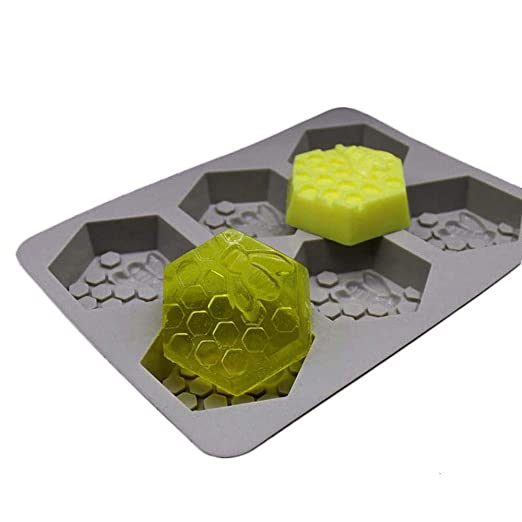DIY Soap Maker Molde de Silicona Molde de jabón de Nido de Abeja 6 ...