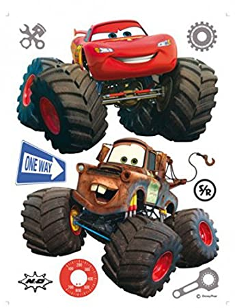 Cars Poster Sticker Wall Tattoo Toon Monster Truck Mater And