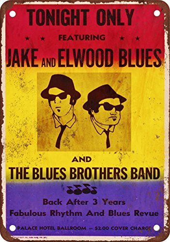 (The Blues Brothers Gig Vintage Look Reproduction Metal Tin Sign 12X18 Inches)