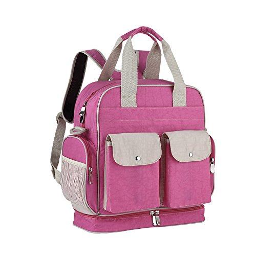 Pink Weekender Diaper Bag - Goldwheat Multi-purpose Diaper Bag Baby Tote Bag Travel Backpack Weekender Tote Messenger Organizer for Mom Women Girls