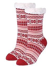 Kodiak Women's 2 Pairs of Soft Thermal Anti-Skid Slipper, US Shoe Size 4-10
