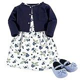 Hudson Baby Girls' Cotton Dress, Cardigan and Shoe