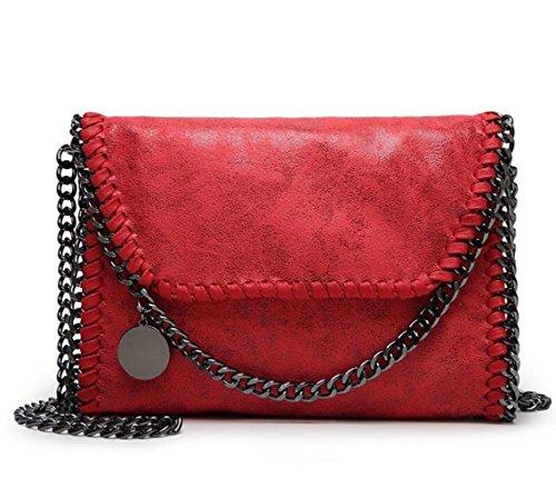 WLFHM Bolsa De Cuerpo Cruzado Bolso De Cadena Bolso Casual De Mujer Bolso De Embrague Bandolera Red