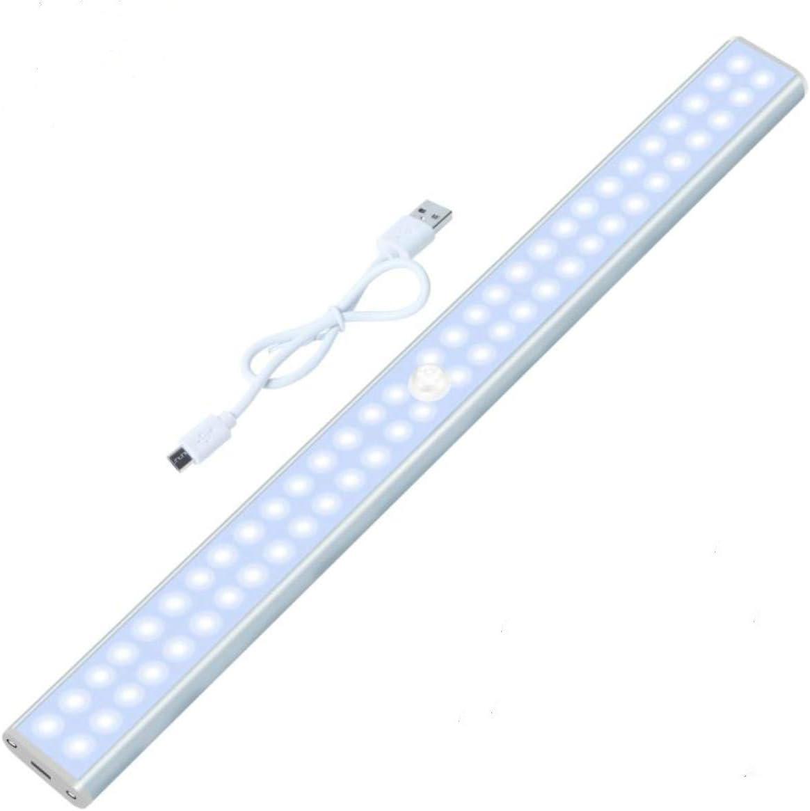 60 LED Closet Light Under Cabinet Lights Dimmable Wireless Light Bar Motion Sensor Light Battery Wall Light for Kitchen,Wardrobe,Pantry,Stairs,Bedroom, Basement,Hallway
