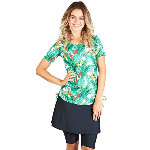 9f2d694092 85%OFF Ella Mae Modest Swimsuit for Women with Short Sleeve Swim Shirt and  Swim