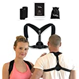 Posture Corrector Brace For Women and Men | Adjustable Straps, Comfort Pads and Travelling Bag | Upper Back Pain Relief | Supports Clavicle, Shoulders and Neck | Chest Sizes 27 - 46 inch