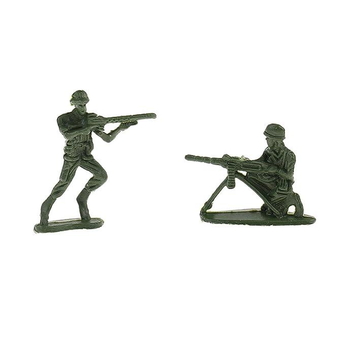 Arm/ée Verte Homyl 120pcs//ensemble Figurines de Soldats de lArm/ée Militaire 4cm en Plastique Enfants Jouets