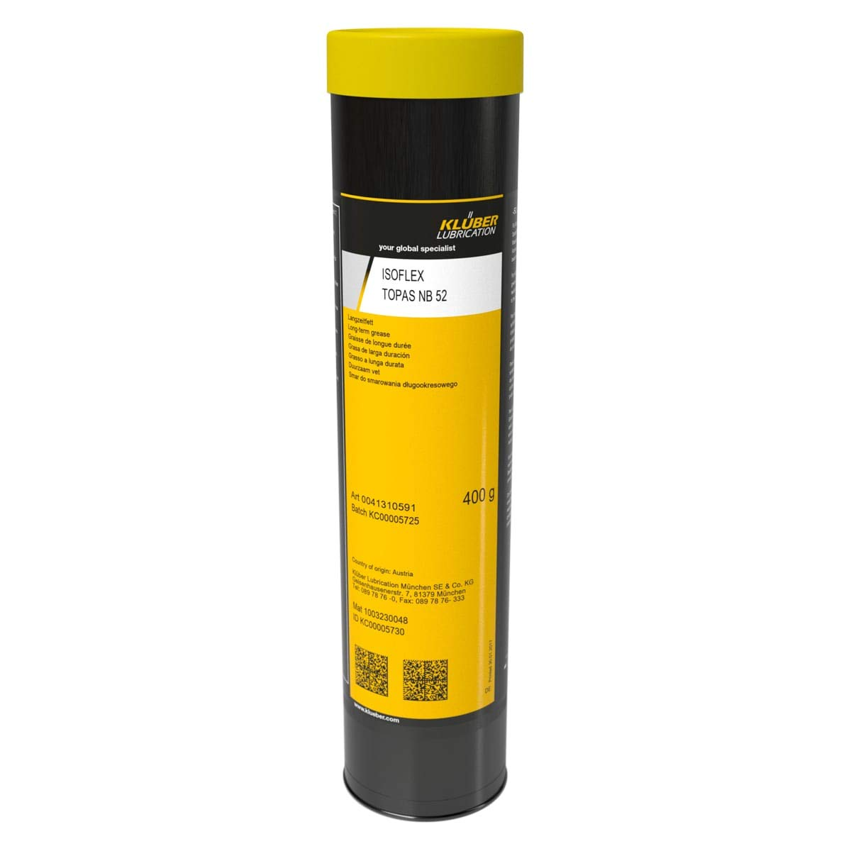 Kluber Lubrication Isoflex Topas Nb 52 400 grams  Synthetic
