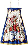 Dolce & Gabbana Kids Girl's Caltagirone Vase Print Dress (Big Kids) Floral Vase Print Youth 12 Big