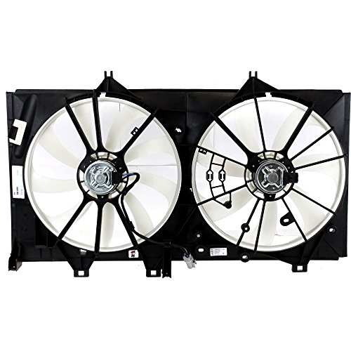 Radiator Fan Shroud Assembly Compatible with Toyota Camry 12-14 Dual Fan 2.5L Eng. s