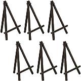 US Art Supply 8 inch Mini Wood Display Easel Black (6-Pack)