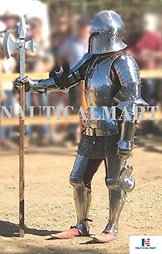 LARP Armor Medieval Knight Halloween Costume Body Suit Of Armor by NAUTICALMART