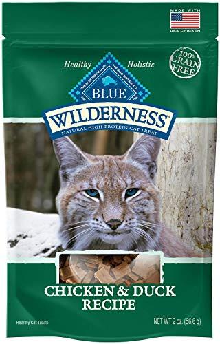 Blue Wilderness Chicken And Duck Grain Free Soft-Moist Cat Treats, 2 Oz (Pack Of 12)