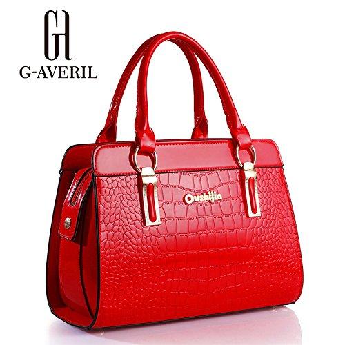 (G-AVERIL) PU in pelle Donna Borsa Handbag borsa a Spalla Borse a mano Tote Bag Shoulder Bag con Mutil tasche