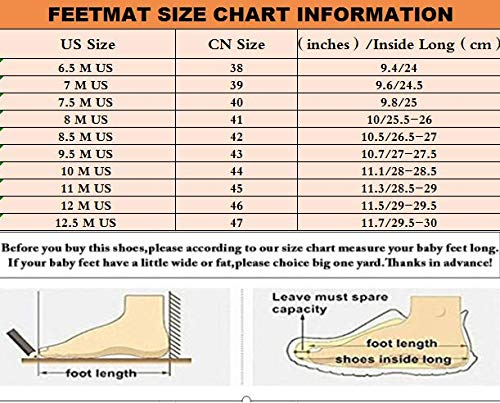 Feetmat Mens Running Tennis Work Shoes Slip On Resistant Sneakers Lightweight Breathable Athletic Fashion Zapatos Gym Sport Non Slip Casual Walking Shoes for Men Blue 10