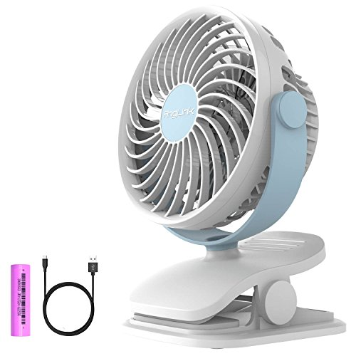 Battery Operated Clip on Fan Mini Desk Fan with 4 Speeds, 360 Degree Rotation for Baby Stroller, Table, Office, Camping, (Battery Operated Clip Fan)