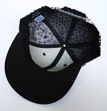 4f3c525598d Itzu Mens New York NY LEOPARD PRINT Black Snapback Baseball Cap Hat  (Adult)  Amazon.co.uk  Clothing
