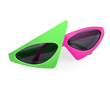 80s Neon Party Glasses Novelty  up Sunglasses Costumes Props Kids Adults