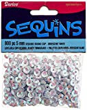 Cupped Sequins 5mm 800/Pkg-White Iridescent