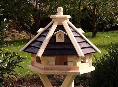 Casa del pájaro Casa pájaro De Madera Tipo 21 - Marrón, sin soporte: Amazon.es: Jardín