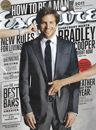 BRAND NEW! STILL FACTORY SEALED! Bradley Cooper l How to Be a Man - June/July, 2011 - Bradley Cooper Hangover In The
