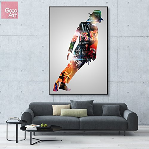 GoGoArt ROLL Canvas print wall art panorama giclee photo big picture poster modern (no framed no stretched not oil painting)THIS IS IT Michael Jackson KING OF POP music star A-0050-1.5