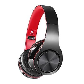 Aokey Auriculares Bluetooth Inalámbricos Profesionales V4.2 con Micrófono,Compatible con todos los Smartphones,TV/PC/Tarjeta micro SD/Radio FM para ...