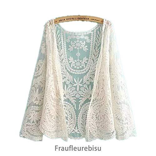 【Fraufleur】カーディガン 総レース ボレロ 花柄 エレガント レディスファッション