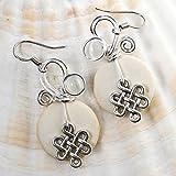 White Celtic Knot Earrings - Handmade Irish Jewelry Gift