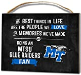 KH Sports Fan 4''X5.5'' Middle Tennessee State Blue Raiders Best Things Small College Plaque