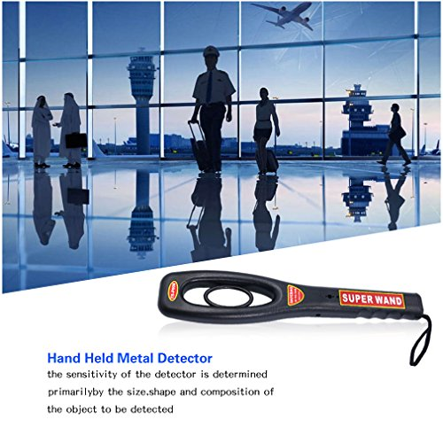 Amazon.com : SAFEBAO Portable Hand Held Metal Detector Wand Security Scanner with Adjustable Sensitivity Ratio Audio and Vibration LED Indication : Garden & ...