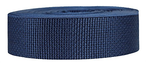 Strapworks Lightweight Polypropylene Webbing - Poly Strapping for Outdoor DIY Gear Repair, Pet Collars, Crafts - 1.5 Inch x 10 Yards - Navy Blue