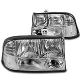 ZMAUTOPARTS GMC Sonoma / Jimmy / Oldsmobile Bravada Crystal Style Headlights Chrome