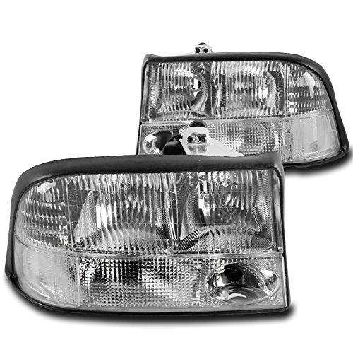 ZMAUTOPARTS GMC Sonoma/Jimmy/Oldsmobile Bravada Crystal Style Headlights Chrome ()