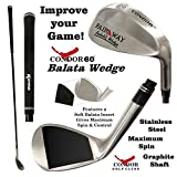 NGC Condor 60 Degree All-Purpose Golf Wedge with Balata Face for Sand, Rough, Fairways and Hardpan!