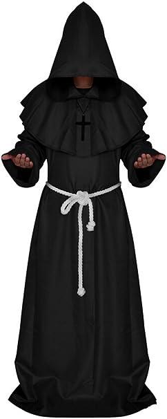 Amazon.com: Disfraz de monje medieval para Halloween: Clothing
